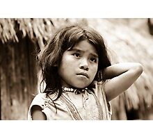 Indian girl in the Colombian jungle Photographic Print