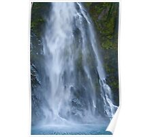 Stirling Falls - Milford Sound Poster