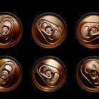 Golden aluminum drink cans by AlvaroGerman