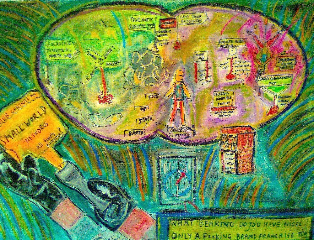 "Entry for Small World Comp..""Global Positioning"" by Dante 8/8/10 by tim norman"