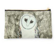 silver owl totem Studio Pouch