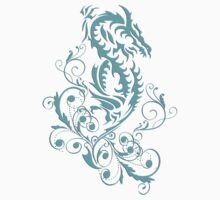 Dragon 20 cyan by rainsdesigns