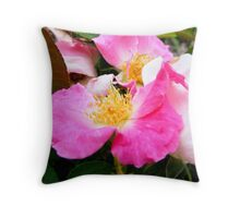 Native Rose Throw Pillow