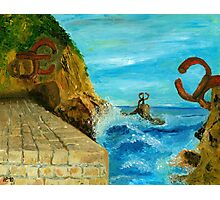 The comb of the wind, Chillida, San Sebastian - Spain Photographic Print