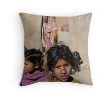 The Village Girls Of Rajasthan  Throw Pillow