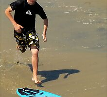 Running For The Board: SKIMBOARDING by paintingsheep