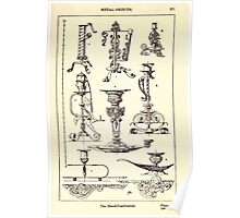 A Handbook Of Ornament With Three Hundred Plates Franz Sales Meyer 1896 0387 Metal Objects Hand Candlestick or Candle Stick Poster