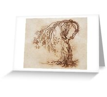 Hedge Witch, the Lady in the Tree Greeting Card