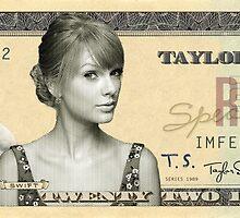 Taylor Swift 22 Dollar Bill by PlochArt