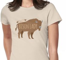 Crazy Bison Lady Womens Fitted T-Shirt