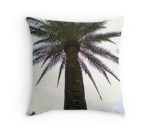 Palm Tree-Carmel, CA Throw Pillow