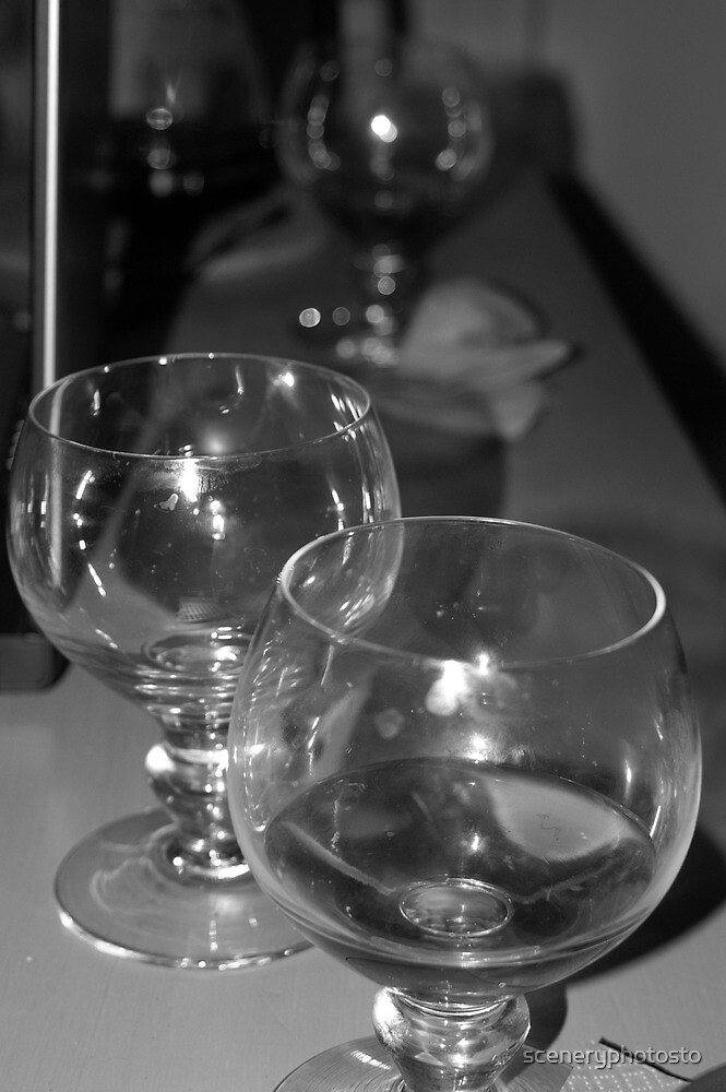 Beer glasses after the party by sceneryphotosto