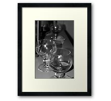 Beer glasses after the party Framed Print