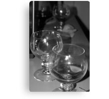 Beer glasses after the party Canvas Print