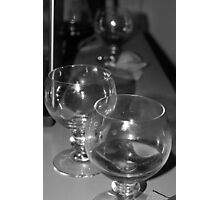 Beer glasses after the party Photographic Print