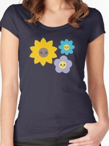 Happy Flowers Women's Fitted Scoop T-Shirt