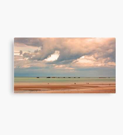 Gold Beach, Normandy - 69 Years after D-Day  Canvas Print