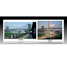 BEFORE AND AFTER 2 Photographic Print