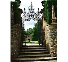 Gate at Athelhampton Photographic Print