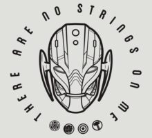 There are no strings. T-Shirt