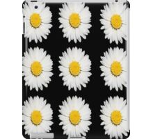 Nine Common Daisies Isolated on A Black Backgound iPad Case/Skin