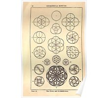A Handbook Of Ornament With Three Hundred Plates Franz Sales Meyer 1896 0044 Circle Subdivision  Geometrical Elements Poster