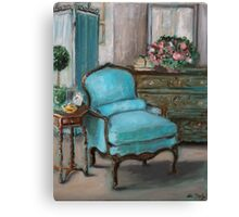 Turquoise Chair Canvas Print