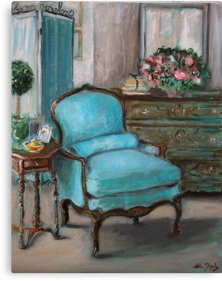 Turquoise Chair by adrianazag