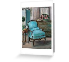 Turquoise Chair Greeting Card