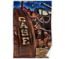 Case Antiquated Tractor Poster