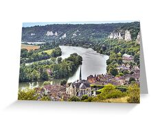 Le Petit-Andely and The Seine Banks Greeting Card