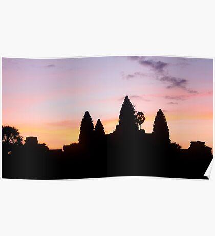 Cambodian sunrise Poster
