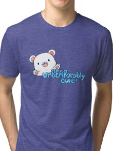 unBEARably Cute Polar Bear Tri-blend T-Shirt