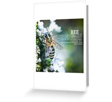 B is for Bee Greeting Card