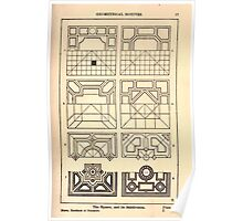 A Handbook Of Ornament With Three Hundred Plates Franz Sales Meyer 1896 0033 Geometrical Elements Square Subdivision Poster