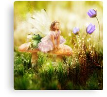 The Toadstool Faerie Canvas Print