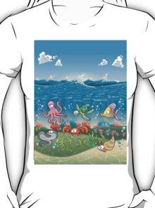 Under the deep blue see Design T-shirt T-Shirt