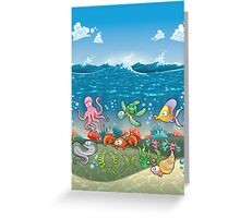 Under the deep blue see Design T-shirt Greeting Card
