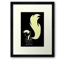 Minimalist Derpy Hooves Framed Print