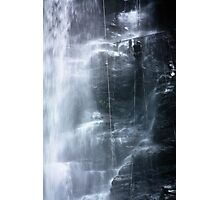 Waterfall abseil Photographic Print
