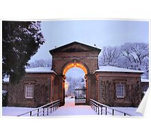 Winter Snow at Sewerby Hall Poster