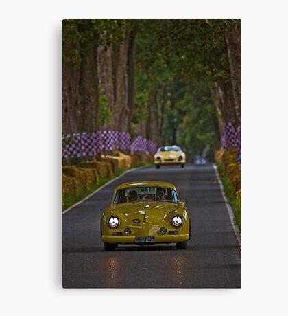 Yellow cars Canvas Print