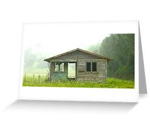 Abandoned House on Rainy Day Greeting Card
