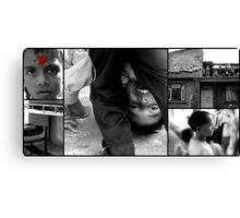 A Slice of an Orphan's Life In Nepal Canvas Print