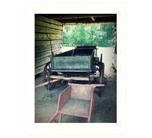 Wagons Past Art Print