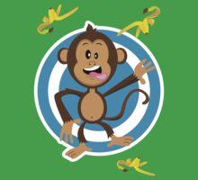 Monkey Going Bananas! by Ian Batterbee