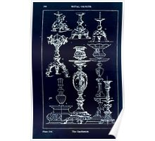 A Handbook Of Ornament With Three Hundred Plates Franz Sales Meyer 1896 0384 Metal Objects Candle Stick or Candlestick Inverted Poster