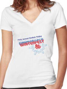 Winterfest 86 Women's Fitted V-Neck T-Shirt