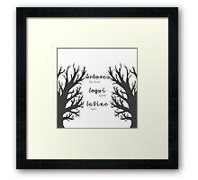 The Trees Speak Latin Framed Print