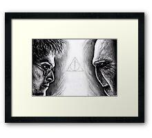 Harry vs Voldemort Framed Print